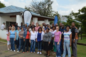 Group Five Projects Boksburg, Grootegeluk Medupi Lephalale, Kibali DRC and NMPP TM2 Heidelberg sites took part in the 10th CANSA 2013 Shavathon with a total of 69 employees who were brave enough to be shaved or sprayed at Boksburg, 92 employees and contractors at the Kibali Mine and 67 employees at Grootegeluk Medupi with a total R11 400 donated to CANSA.
