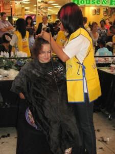 Michelle shaving