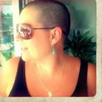 Candice Rautenbach shaves head