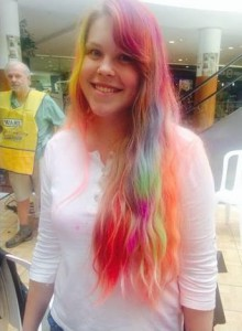 rainbow hair Cavendish