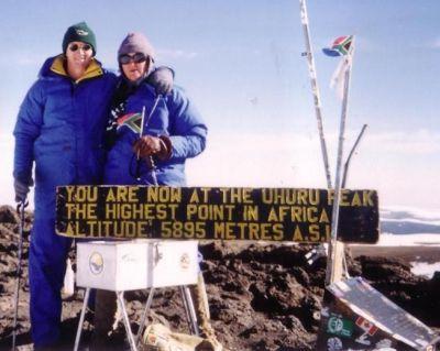 Anita & Beukes Enslin on Kilimanjaro
