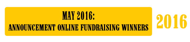 May 2016: Announcement Online Fundraising Winners